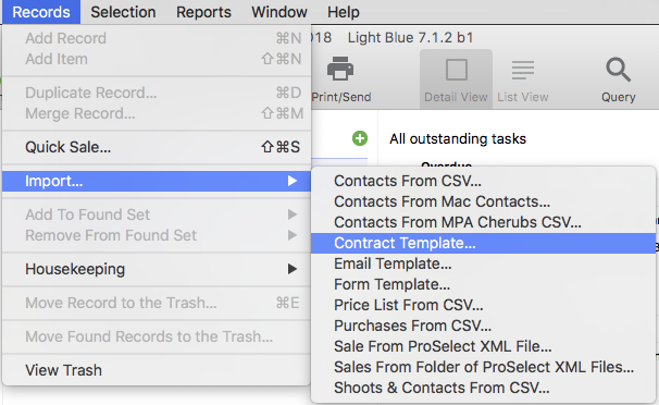If The Contract Template Also Includes An Accompanying Form Youll Be Prompted To Choose Whether Or Not Import Too