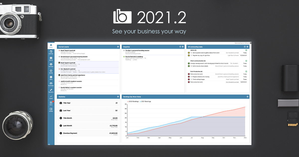 Light Blue 2021.2 – see your business your way with the new Home screen